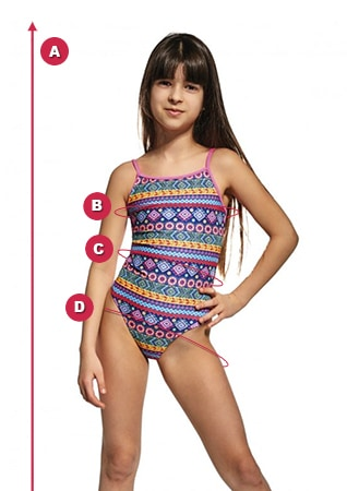 Swimsuit measurements